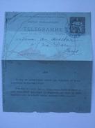 FRANCE 1890`s TELEGRAMME - Cartes Pneumatiques Paris - Postal Stamped Stationery