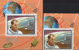 NASA Memorian Tod White 1969 VAE Manama 211+Bl.M35 AD O 30€ Raumschiff Apollo Bloc Hb Ms Space Sheet Bf Adschman Ss - Space