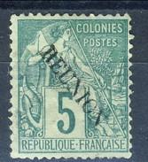 Reunion 1891 N. 20 C. 5 Verde MNG (senza Gomma) Cat. € 13 - Unused Stamps