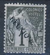 Reunion 1891 N. 17 C.  Nero Su Azzurro MH Cat. € 5.30 - Unused Stamps