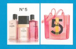 Cartes Parfumées Carte CHANEL N°5  De CHANEL RECTO VERSO - Modernes (à Partir De 1961)