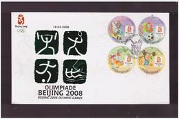INDONESIA - 18 3 2008 FDC GIOCHI OLIMPICI PECHINO + FOLDER
