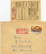 K4193 Einschr. Brief DDR St. Rostock N. Wehrsdorf Mit Einlieferungsschein - DDR