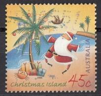 Christmas Island 2006 Santa Claus Sulla Spiaggia. Viaggiato Used - Christmas Island