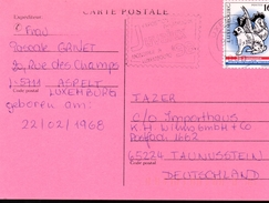 LUXEMBOURG   Carte Lapins Coq