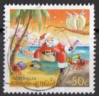 Christmas Island  Santa Claus Sulla Spiaggia. Viaggiato Used - Christmas Island