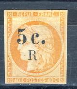 Reunion 1885 - 86 N. 6A C. 5 Su C. 40 Arancio Vivo MH Cat. € 90 - Unused Stamps