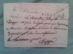 UNE LETTRE DE CACHET DE BUREAU DE POSTE CHAMBRE DES ROUEN ET AVEC CIRE ET CACHET - Vecchi Documenti