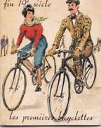 Mini CALENDRIER 1974  LES PREMIERS BICYCLETTES (vélo,vélos) ,publicité Le Mans Sarthe  Beline Patissier Rue Marchande - Calendriers