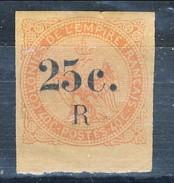 Reunion 1885 - 86 N. 4 C. 25 Su C. 40 Vermiglio (aquila) MVLH Bordo Di Foglio Cat. € 80 - Unused Stamps