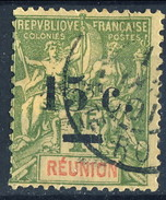 Reunion 1901 Serie N. 55 C. 15 Su F. 1 Usato Cat. € 20 - Used Stamps