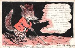 THEME GOLF / Carte Illustrée - Renard Jouant Au Golf - Défaut - Golf