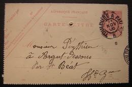 1906 Toulouse A Pau Sur Carte Lettre, Commande De Roquefort - Marcophilie (Lettres)