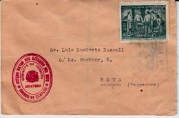 GUERRA CIVIL SOBRE CON SELLO DEL ESTADO MAYOR DEL EJÉRCITO DEL ESTE -CORREO DE CAMPAÑA- GABINETE DE CENSURA -viñeta Ugt - 1931-50 Covers
