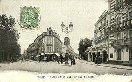 14 - CPA - VICHY - Place Victor Hugo Et Rue De Nîmes - 1905 -  (n&b) - - Vichy