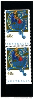 AUSTRALIA - 1993  40c.  CHRISTMAS  PAIR FROM BOOKLET  MINT NH - Nuovi