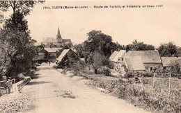 Clefs.. Animée Route De Turbilly De Volandry L'Eglise - Other Municipalities
