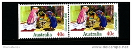 AUSTRALIA - 1992  40c. CHRISTMAS  PAIR FROM  BOOKLET  MINT NH - Nuovi