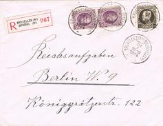 22039. Carta Certificada BRUXELLES (Belgien) 1924 A Berlin - Bélgica