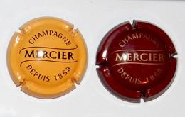 LOT SERIE DE 2  PLAQUES DE MUSELET / CAPSULES A CHAMPAGNE - MERCIER    (2) - Mercier
