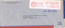 22040. Carta Aerea TORONTO (Ontario) Canada 1956. Franqueo Mecanico HYDRO