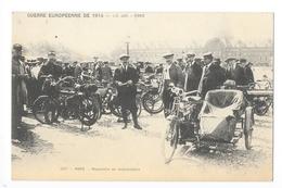 PARIS  (cpa 75)  Guerre Européenne De 1914 - Réquisition De Motocyclettes -   - L 1 - Petits Métiers à Paris