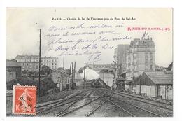 PARIS  (cpa 75)  Chemin De Fer De Vincennes Pris Du Pont De Bel-Air - ## TRES  RARE ##  - L 1 - Transport Urbain En Surface