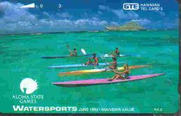 TK 8496 HAWAII - Hawaii - Watersports  Back : Bronze Hawaiian Tel  MINT ! - Hawaii