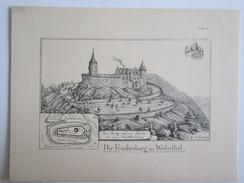 Planche Architecte J. Naeher Alsace Allemagne Die Frankenburg Im Weilerthal - Architecture