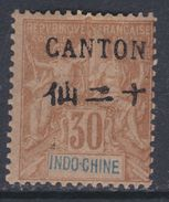Canton N° 26 X  Surcharge Noire : 30 C.brun Trace De Charnière,  TB