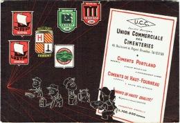Grand Buvard : U.C.C. Union Commerciale Des Cimenteries. Bruxelles. - Buvards, Protège-cahiers Illustrés