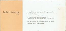 Buvard : Le Bon Marché à Liège. Couture Boutique 1961. - Buvards, Protège-cahiers Illustrés
