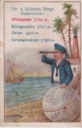 IMAGE 7X10.5 Die 4 Höchsten Berge OESTERREICHS WILDSPITZ 3784 M Ortler 3902 Grossglockner 3798 M (Marin & Longue Vue ) - Old Paper