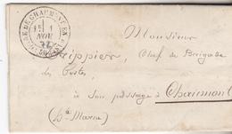 52 Chaumont - Lettre De 1872 De Chaumont Pour Chaumont (pli Local) En Franchise  Destinataire Chef De Brigade Des Postes - 1849-1876: Période Classique