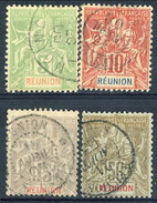 Reunion 1900 - 05 Lotto Di 4 Valori Della Serie N. 46-51 (c. 50 Perfetto) Usati Cat. € 72 - Used Stamps