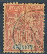 Reunion 1892 N. 42 C. 50 Rosa Usato Cat. € 50 - Used Stamps
