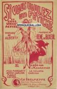 PARTITION CAF-CONC HUMOUR SI VOUS VOULEZ UN FÉTICHE PRENEZ-MOI ALBERTY DE BUXEUIL LA HOUPPA MISSMARGUETT CARINA 1926 ILL - Autres