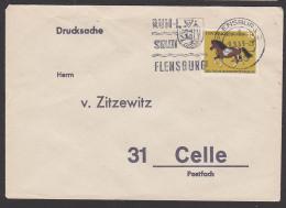 """BERLIN (WEST) Mi. 326 Pony Pferde Drucksache Aus Flensburg """"Rum-Stadt Flensburg"""" 1969 - Brieven En Documenten"""