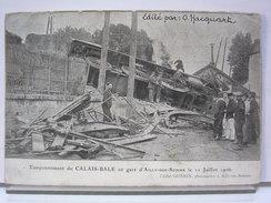 80 - TAMPONNEMENT DU CALAIS-BALE EN GARE D'AILLY SUR SOMME LE 11 JUILLET 1906 - ANIMEE - TRAIN - CLICHE GUERIN - Autres Communes