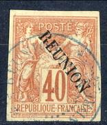 Reunion 1891 N. 14B C. 40 Rosso Arancio Usato Cat. € 60 - Used Stamps