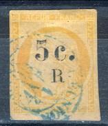 Reunion 1885 - 86 N. 6 C. 5 Su C. 40 Arancio Pallido Usato Cat. € 50 - Used Stamps