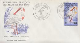 Enveloppe  FDC  1er  Jour  TERRITOIRE  FRANCAIS   Des   AFARS  Et  ISSAS     Spatule  D' Afrique  1976