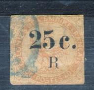 Reunion 1885 - 86 N. 4 C. 25 Su C. 40 Vermiglio (aquila) Usato Cat. € 60 - Used Stamps