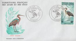 Enveloppe  FDC  1er  Jour  TERRITOIRE  FRANCAIS   Des   AFARS  Et  ISSAS     Oiseaux  1975