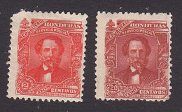 Honduras, Scott #77, 80, Mint Hinged, General Trinidad Cabanas, Issued 1893 - Honduras
