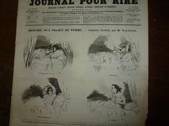 1855 Gravures Issues Du Journal Pour Rire : HISTOIRE D'UN PROJET DE FEMME; Par  Valentin;Nos TROUPIERS Par Randonesberg - Vieux Papiers