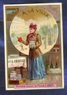Chromo Liebig S301 Ville City Woman Femme Vin Wine Paris Old Trade Card 1891 - Liebig