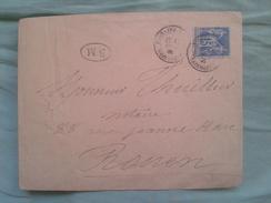 UNE ENVELOPPE DE AVEC TIMBRE ET CACHE - 1876-1898 Sage (Tipo II)