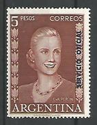 Eva Peron $5 Castaño Lila - Oficiales