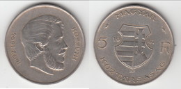 **** HONGRIE - HUNGARY - 5 FORINT 1947 KOSSUTH - ARGENT - SILVER **** EN ACHAT IMMEDIAT !!! - Hongrie